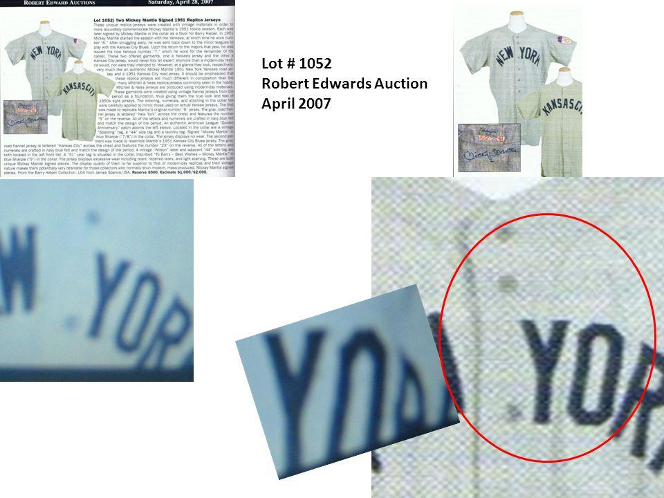 Lot # 1052 Robert Edwards Auction April 2007