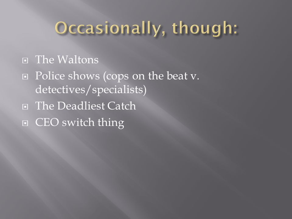  The Waltons  Police shows (cops on the beat v.