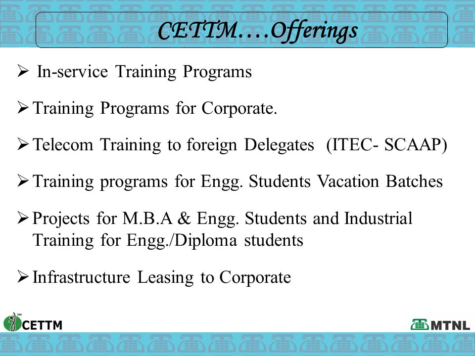  In-service Training Programs  Training Programs for Corporate.