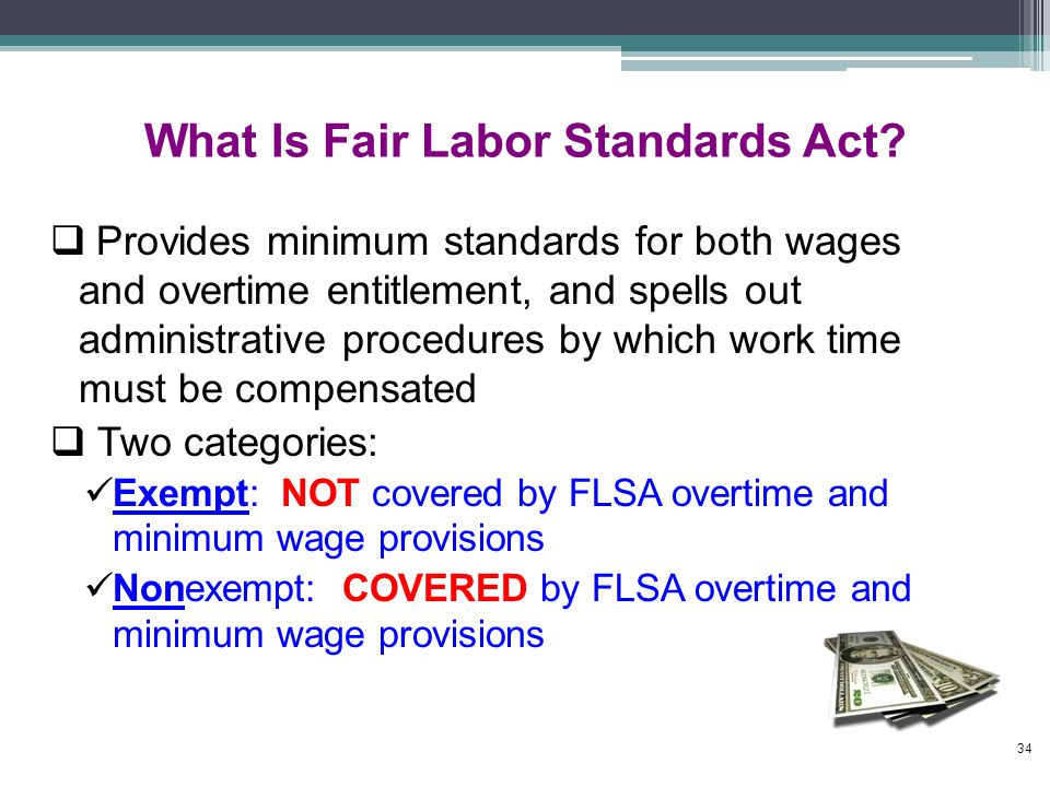 What Is Fair Labor Standards Act.