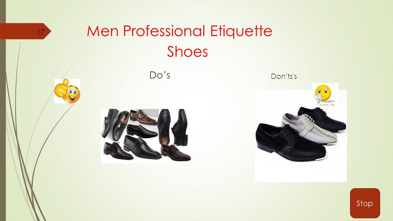 Men Professional Etiquette Do's Don ts s Shoes 17