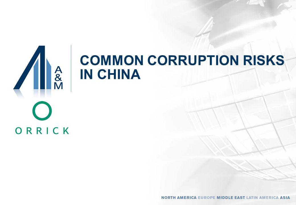 COMMON CORRUPTION RISKS IN CHINA 8
