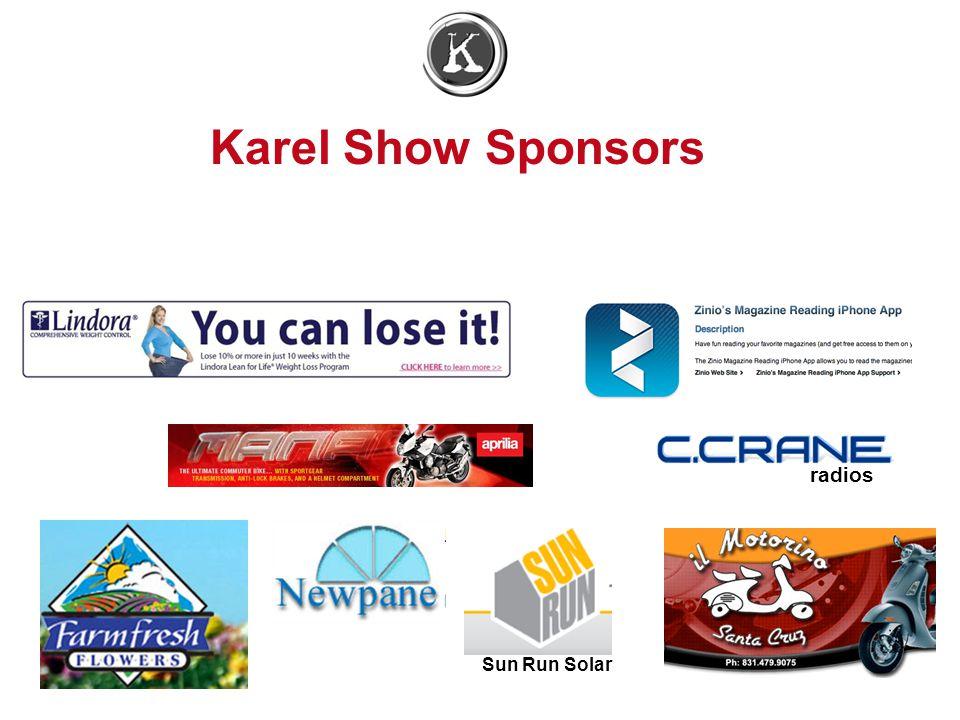 Karel Show Sponsors radios Sun Run Solar