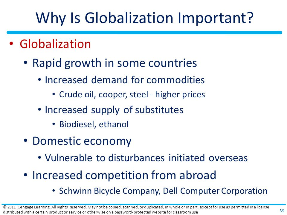 Why Is Globalization Important.