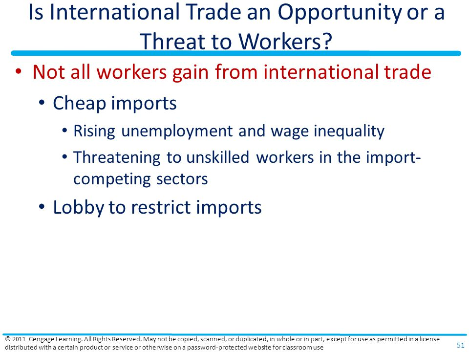 Is International Trade an Opportunity or a Threat to Workers.