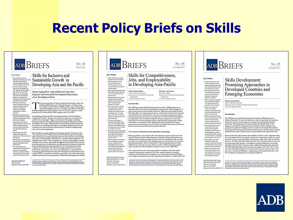 Recent Policy Briefs on Skills