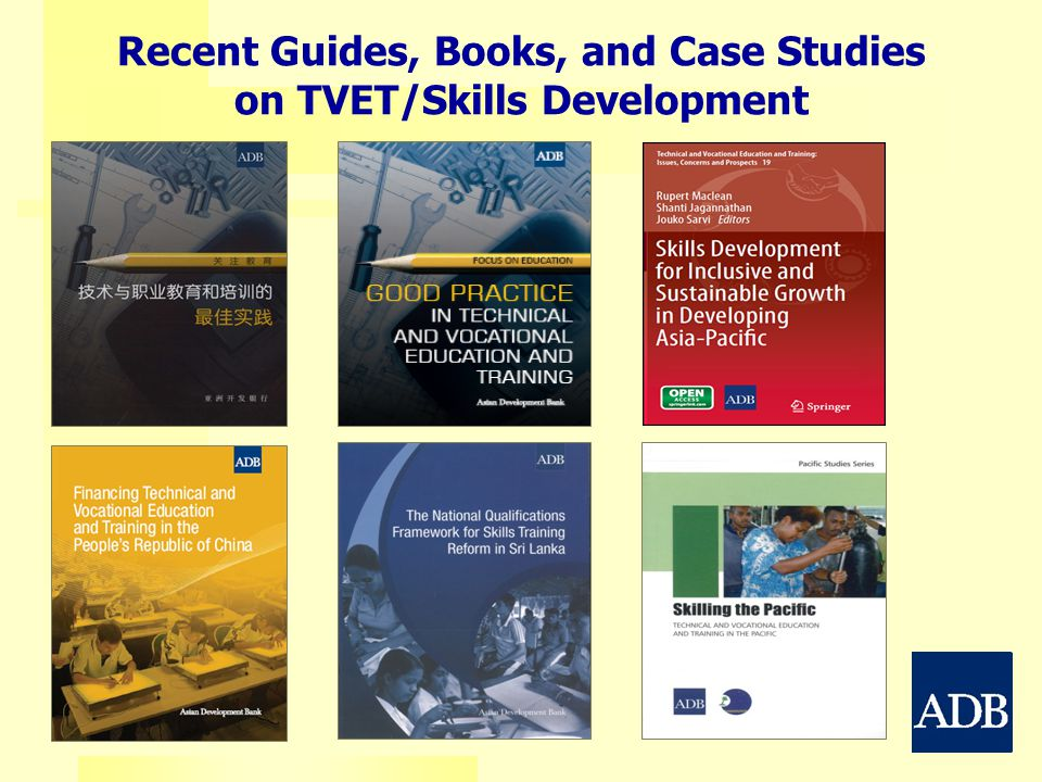 Recent Guides, Books, and Case Studies on TVET/Skills Development