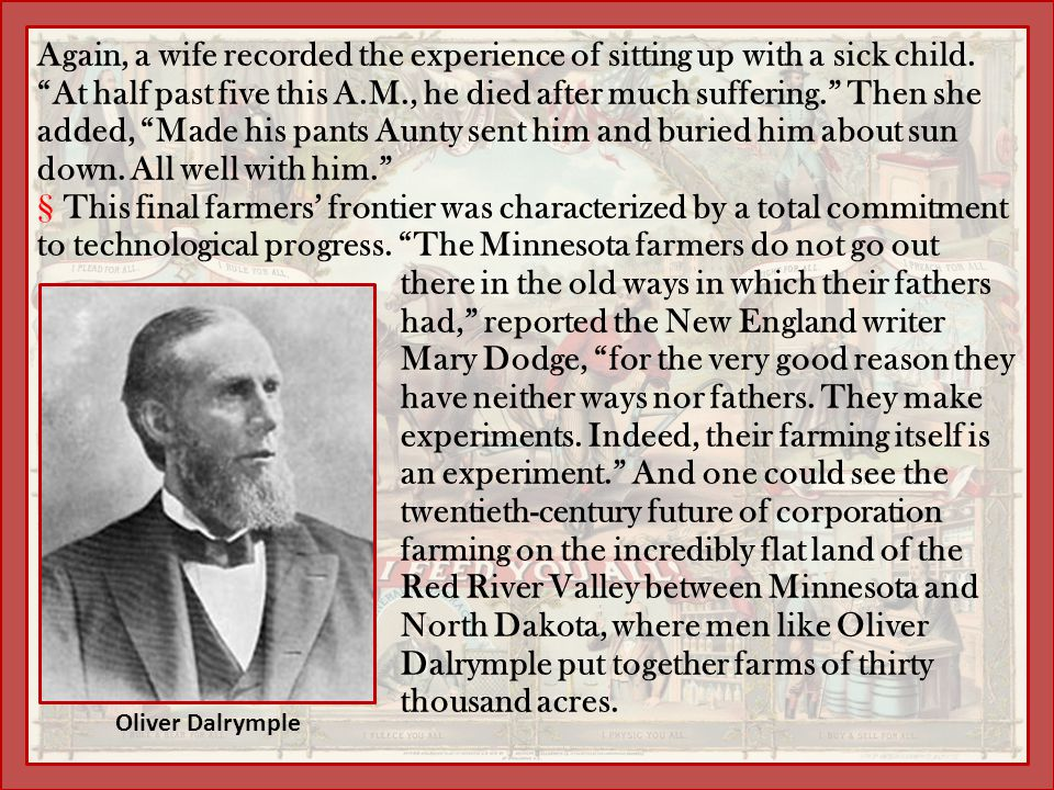 """Again, a wife recorded the experience of sitting up with a sick child. """"At half past five this A.M., he died after much suffering."""" Then she added, """"M"""