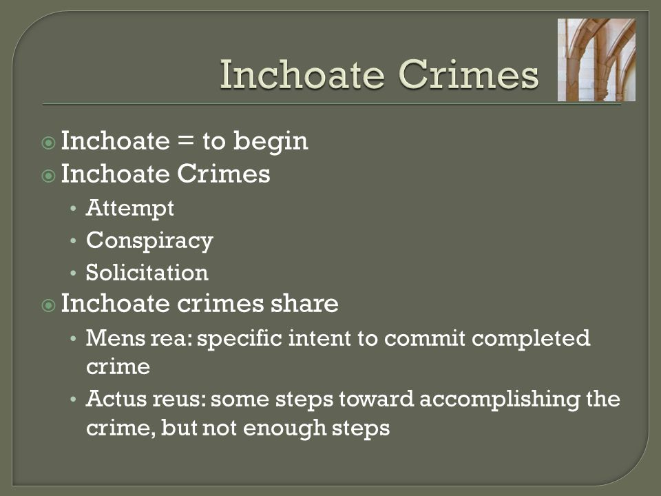  Scope of criminal objective may vary from narrow to broad  Vague definition leads to prosecutorial discretion (abuse??)  Prosecute conspiracy rather than the underlying crime.