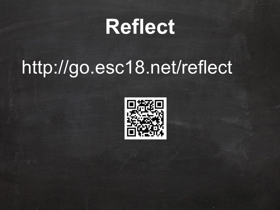 Reflect http://go.esc18.net/reflect