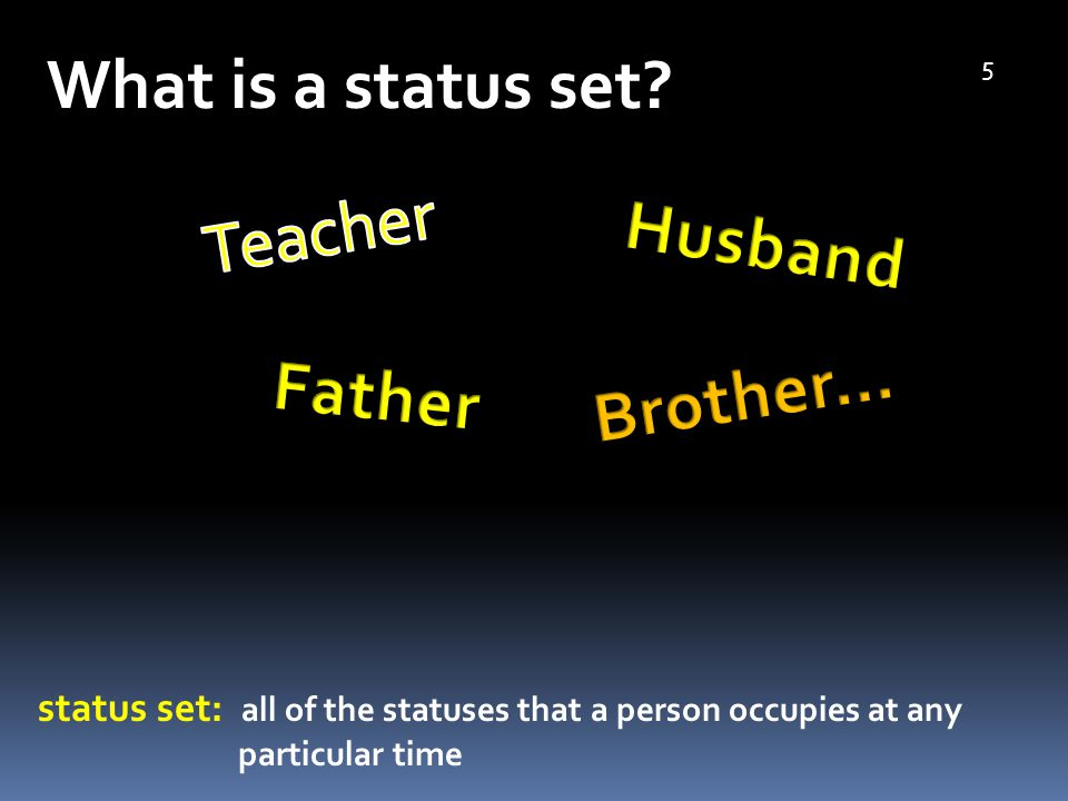 What is a status set.