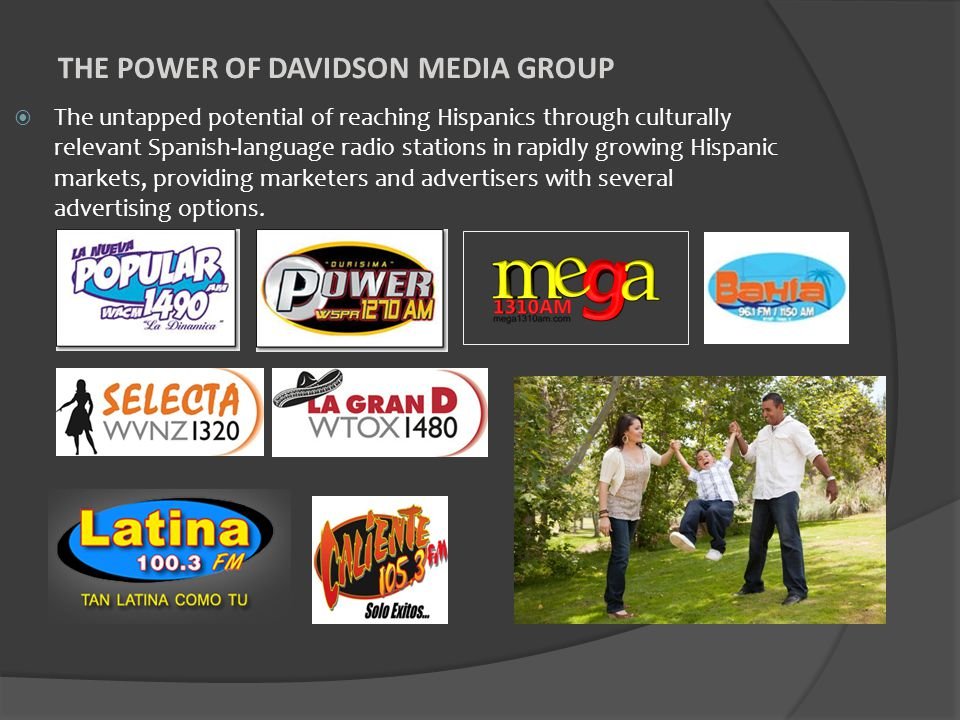  The untapped potential of reaching Hispanics through culturally relevant Spanish-language radio stations in rapidly growing Hispanic markets, provid