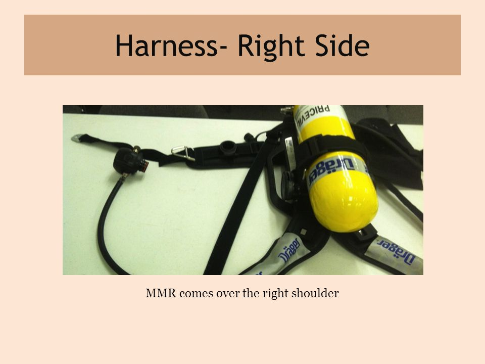 Harness- Right Side MMR comes over the right shoulder