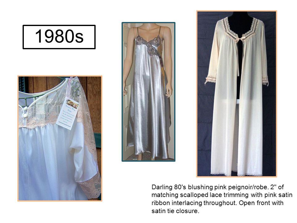 Darling 80's blushing pink peignoir/robe. 2
