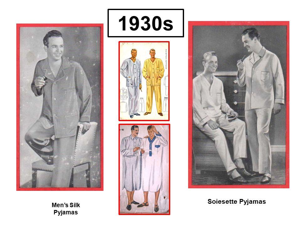 Men's Silk Pyjamas Soiesette Pyjamas 1930s