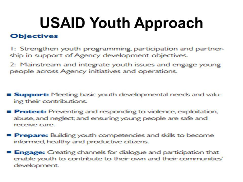 USAID Youth Approach