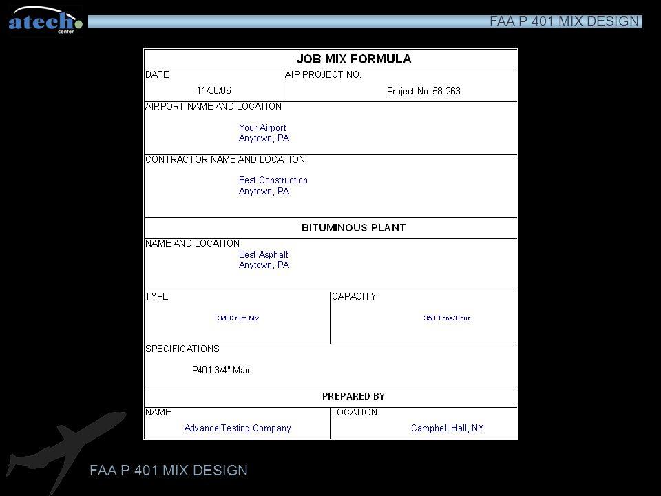 FAA P 401 MIX DESIGN 4.85.4 5.1