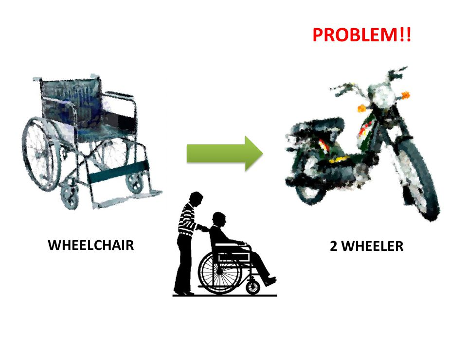 PROBLEM!! WHEELCHAIR 2 WHEELER