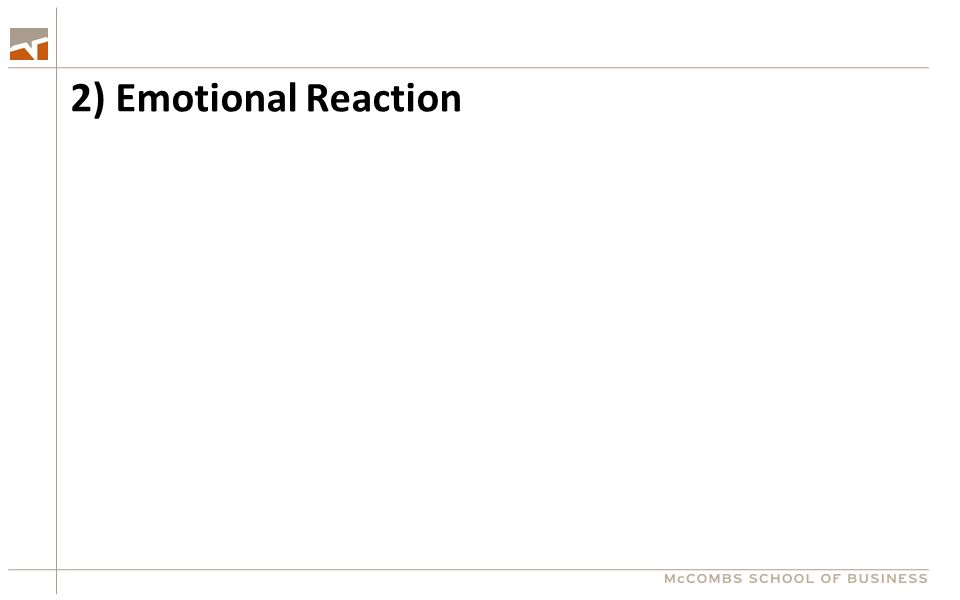 2) Emotional Reaction