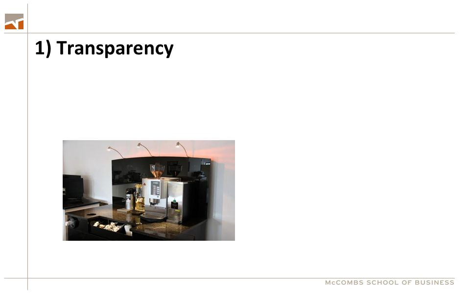 1) Transparency