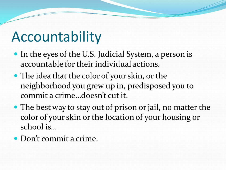 Accountability In the eyes of the U.S.