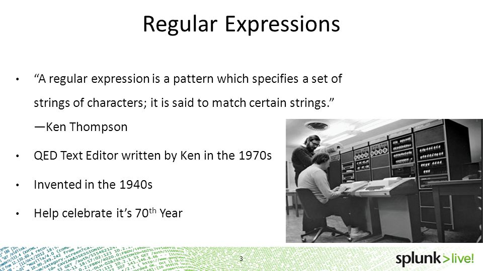 Optimized Regular Expressions Because fast is elegant!