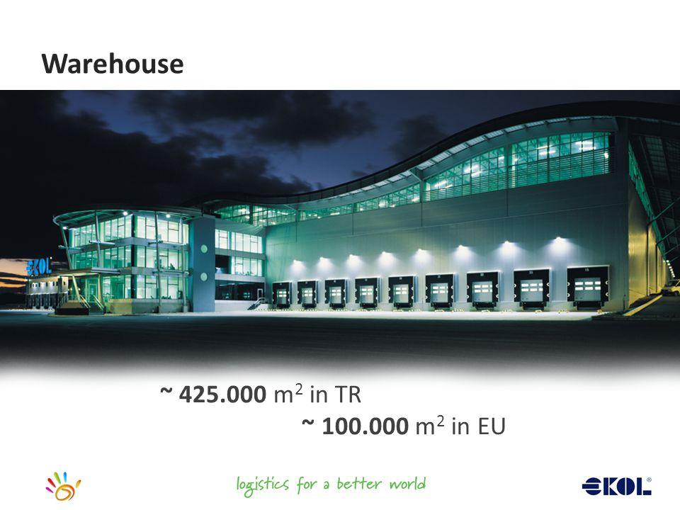 ~ 425.000 m 2 in TR ~ 100.000 m 2 in EU Warehouse