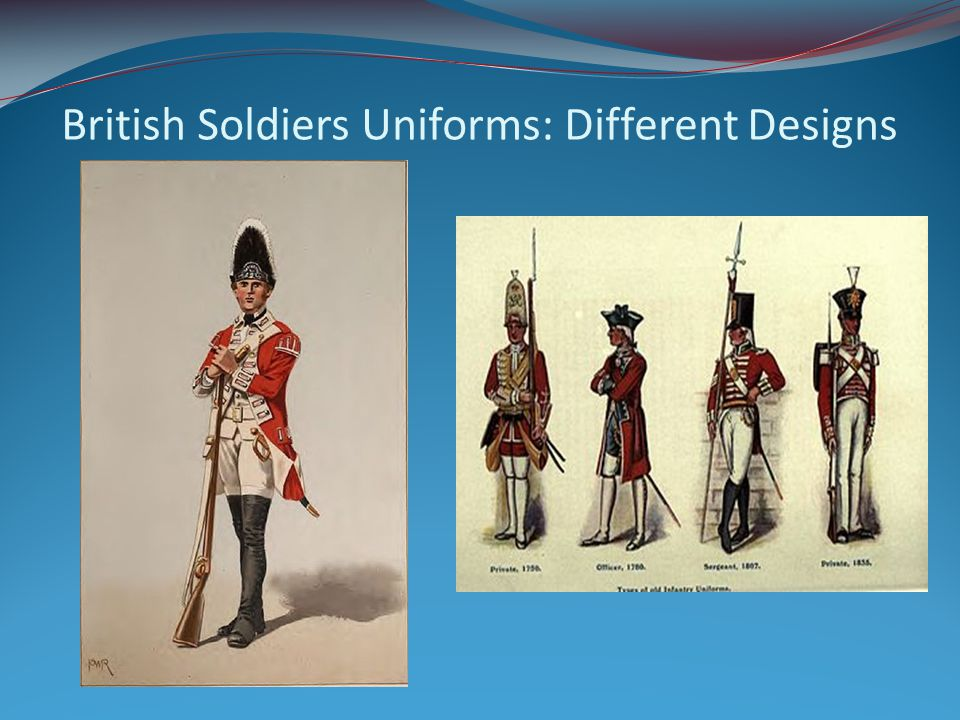 Continental Soldiers The American Continental Soldiers uniforms would vary based on the rank of the soldier.