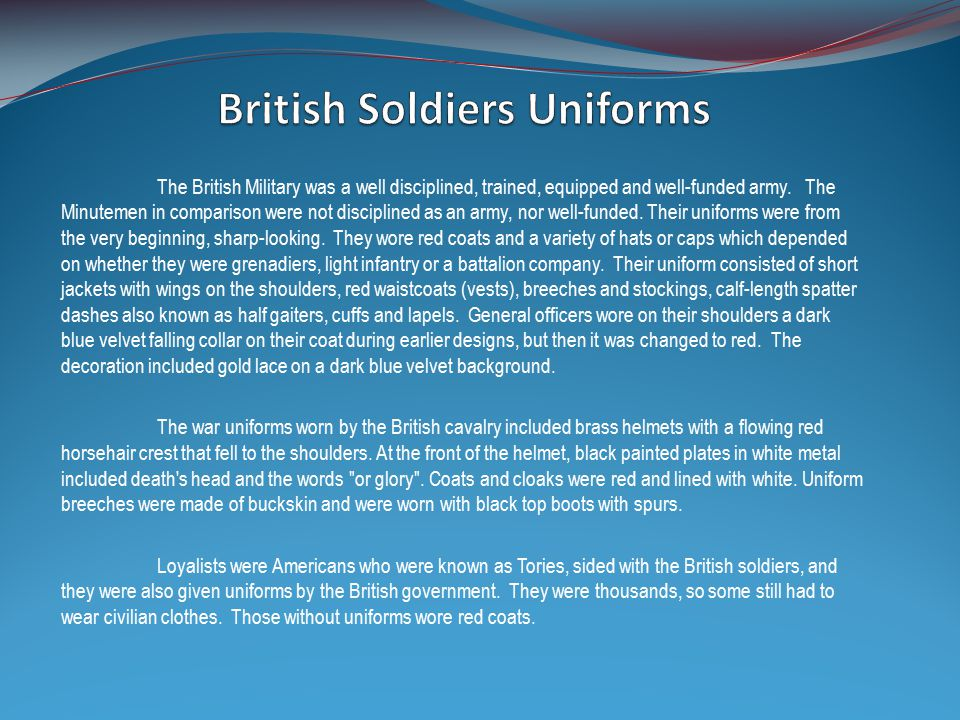 British Soldiers Uniforms Cadence Regiment Corporals, Sergeants and Officers