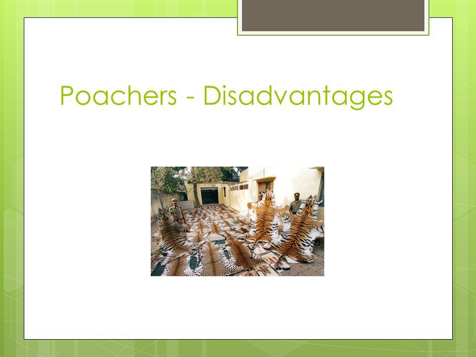 Poachers - Disadvantages