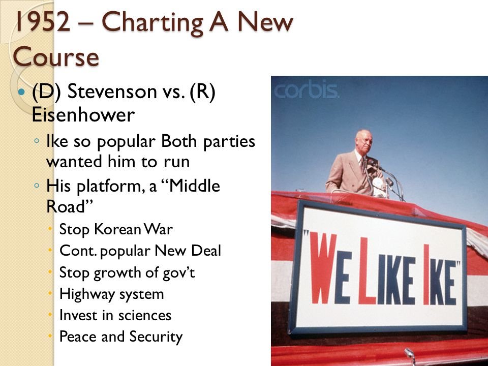 1952 – Charting A New Course (D) Stevenson vs.