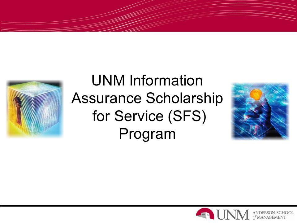 UNM Information Assurance Scholarship for Service (SFS) Program