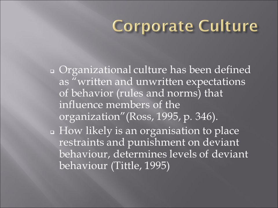 Pavlos Points on a cultBusiness Cult – like Behaviour A cult has a living leader in which the direction of the cult is set by the revelations of the leader A living leader; whose charisma is used to manipulate followers into working towards the leader's personal vision, not the company vision A cult s religious leader has absolute authority over the group A person who micromanages, who squashes any sort of independent thought, who refuses to hear the input of staff or colleagues and uses transactional relationships and coercive power to gain compliance of followers