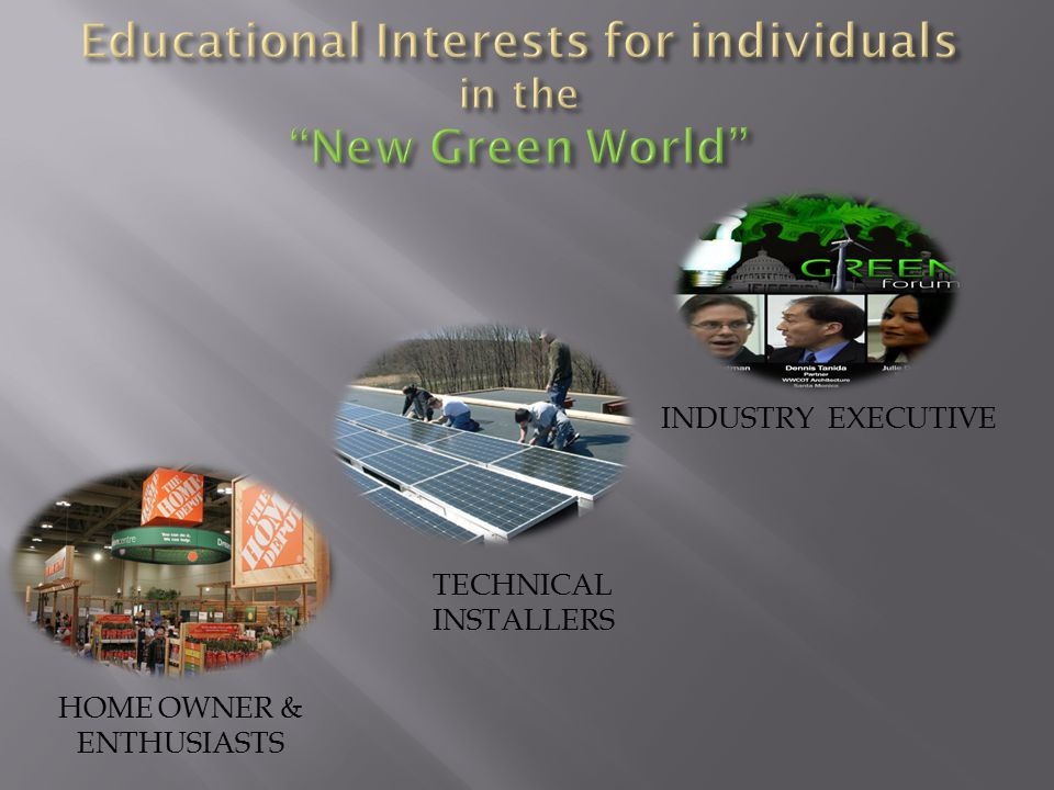 HOME OWNER & ENTHUSIASTS TECHNICAL INSTALLERS INDUSTRY EXECUTIVE