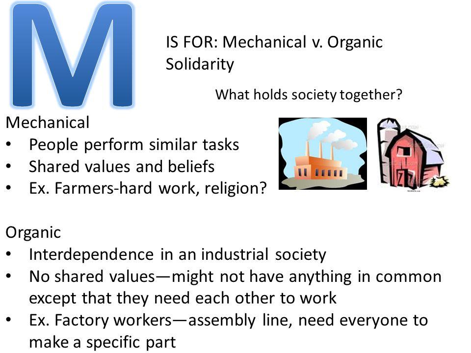 IS FOR: Mechanical v.