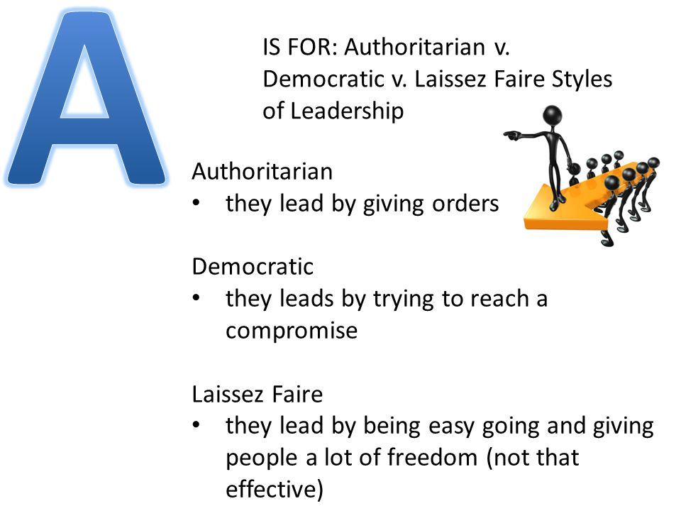 IS FOR: Authoritarian v. Democratic v.