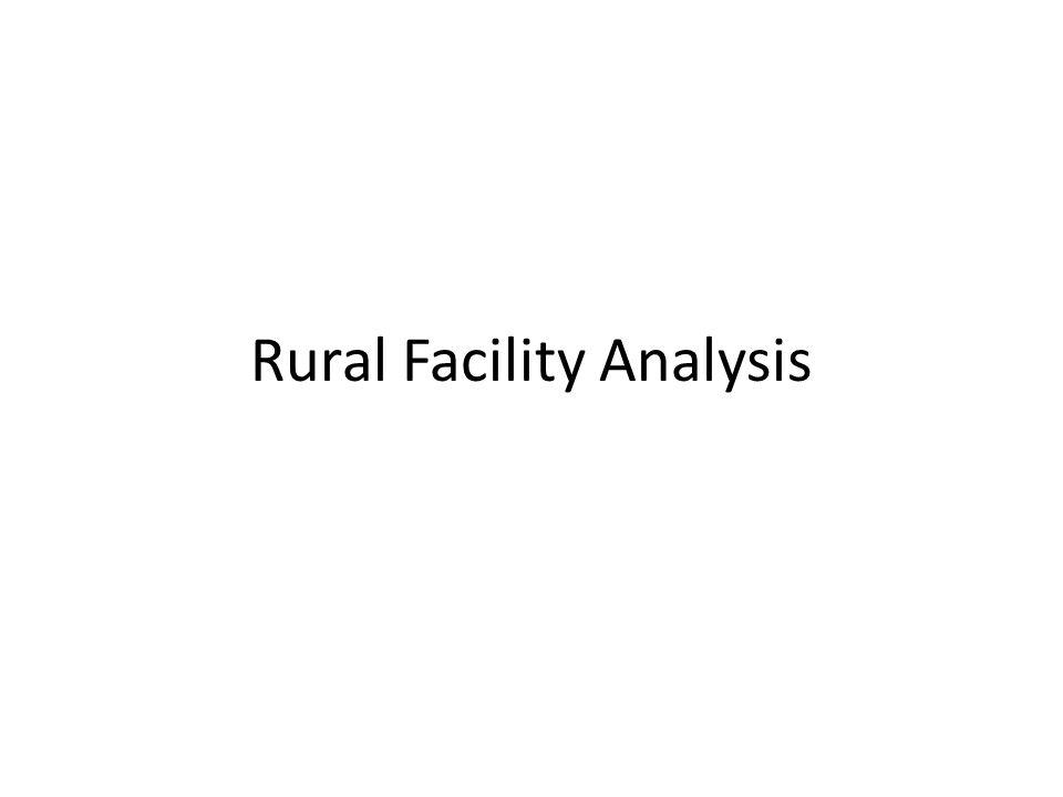 Rural Facility Analysis
