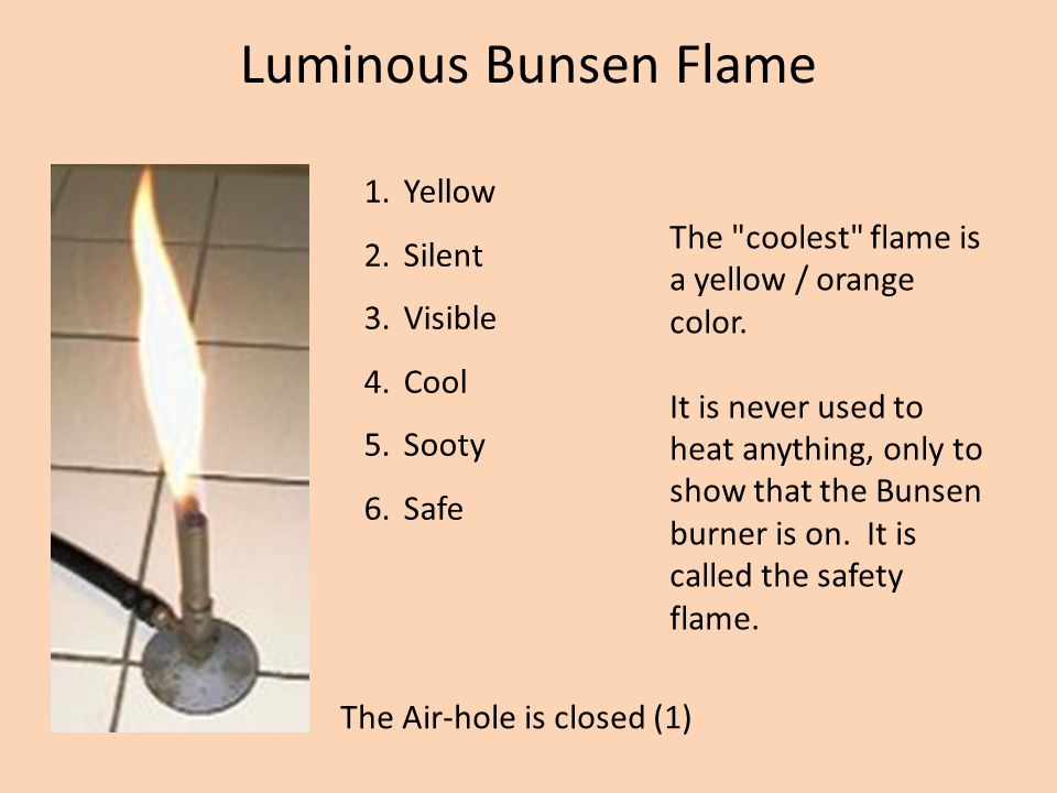 The medium flame, also called the blue flame or the invisible flame is difficult to see in a well-lit room.