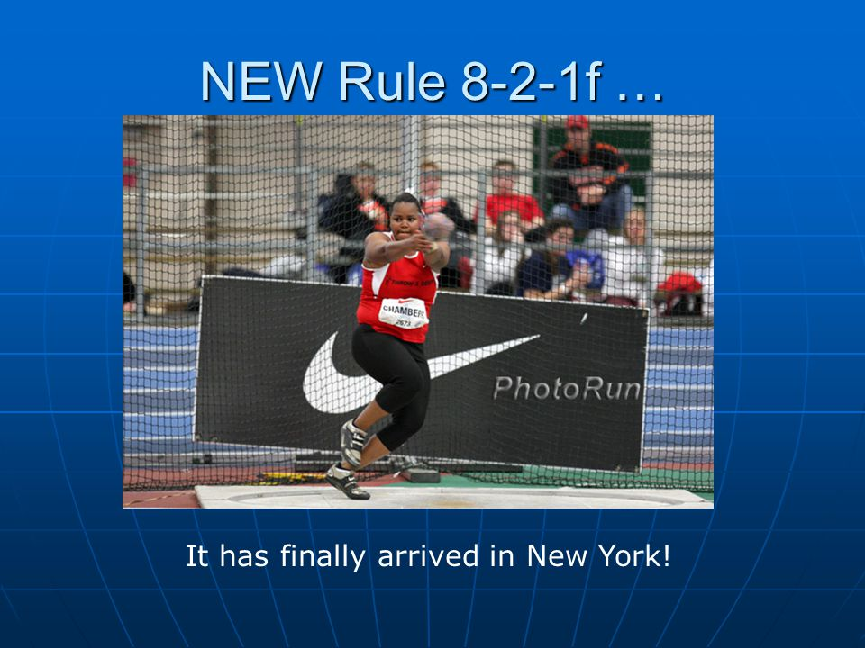 NEW Rule 8-2-1f … It has finally arrived in New York!