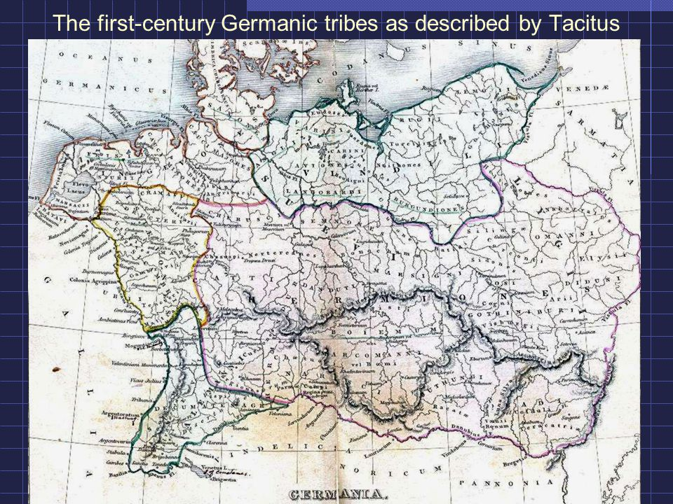 The first-century Germanic tribes as described by Tacitus
