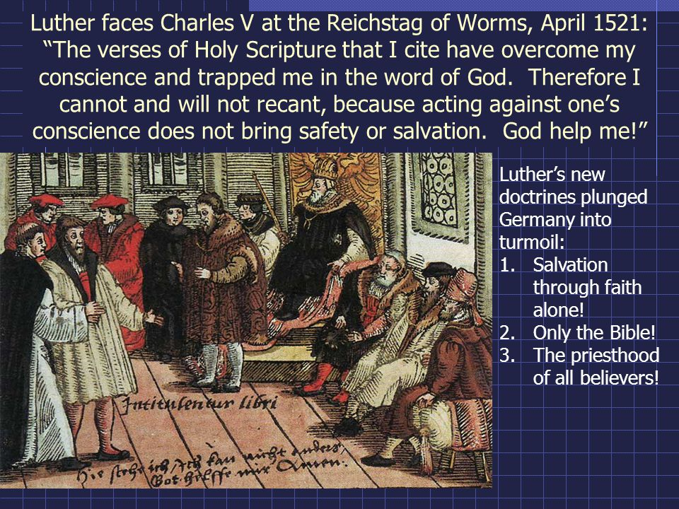 The Protestant Reformation caused deep divisions between North and South: Lucas Cranach, The Supper of the Evangelicals and the Damnation of the Papists (ca.