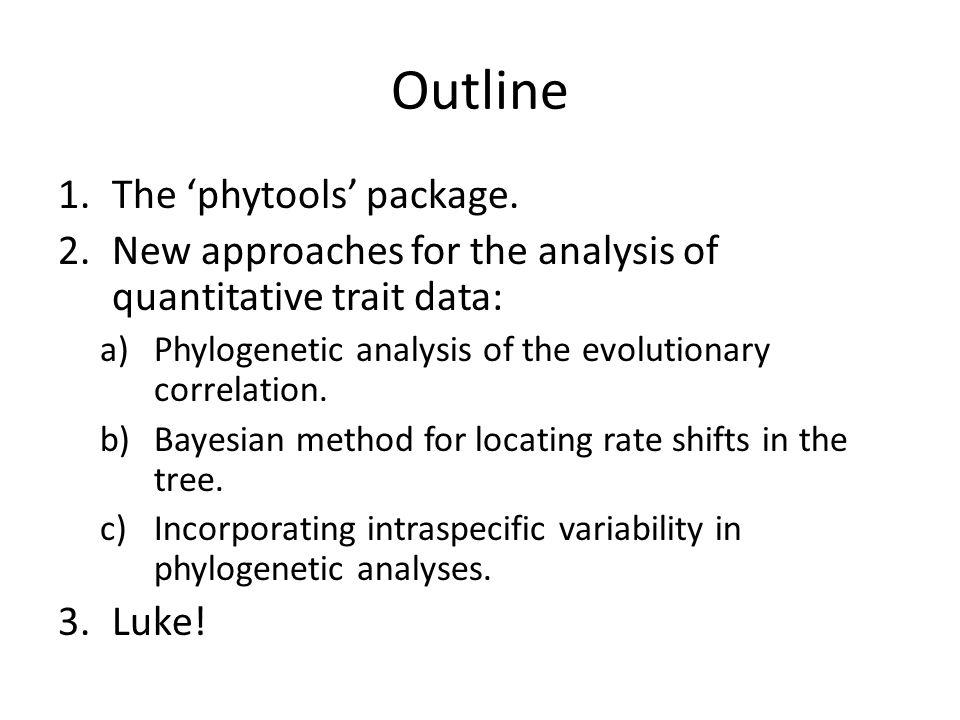 Likelihood For 2-Correlation Model Revell & Collar 2009, Evolution