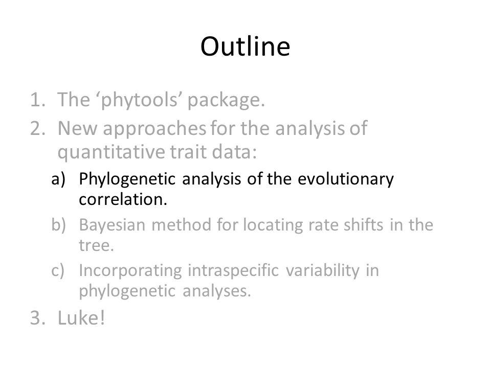 The evolutionary correlation Revell & Collar 2009, Evolution