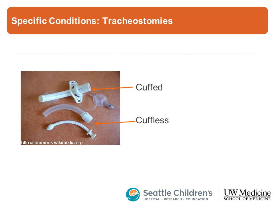 Specific Conditions: Tracheostomies http://commons.wikimedia.org Cuffed Cuffless