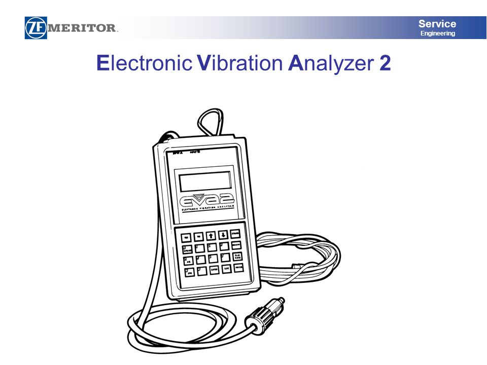 Service Engineering Electronic Vibration Analyzer 2