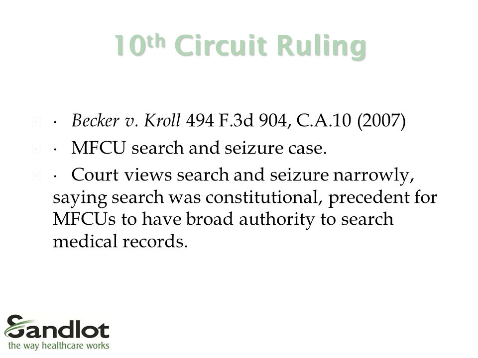 10 th Circuit Ruling  ∙ Becker v.