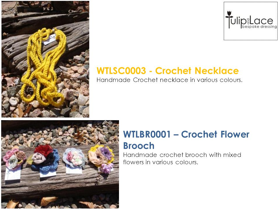 WTLSC0003 - Crochet Necklace Handmade Crochet necklace in various colours.
