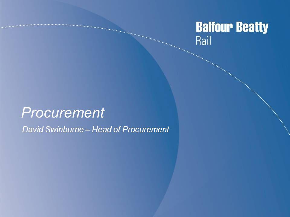 Procurement David Swinburne – Head of Procurement