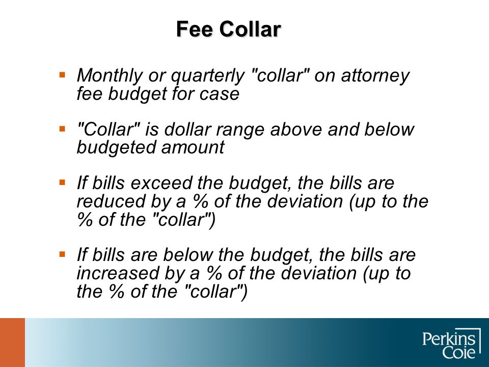 Fee Collar  Monthly or quarterly