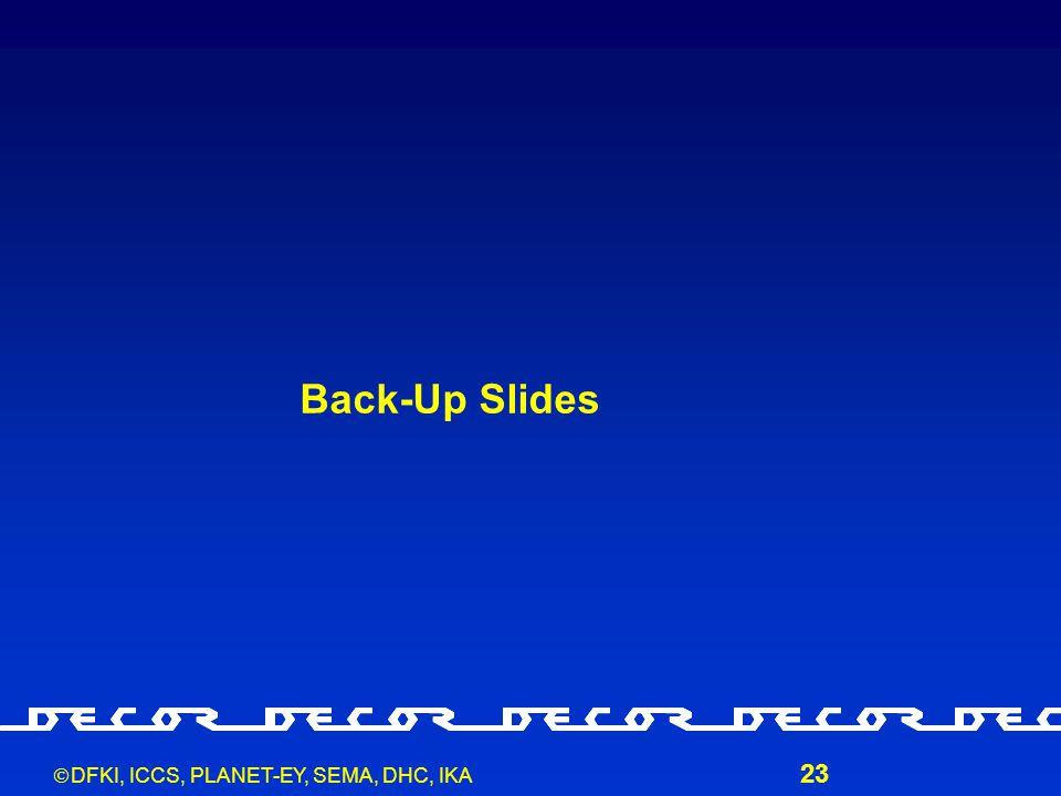  DFKI, ICCS, PLANET-EY, SEMA, DHC, IKA 23 Back-Up Slides